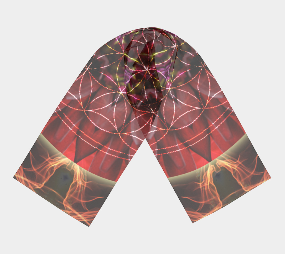 Dancing With the Sun Long Silk Scarf preview #3