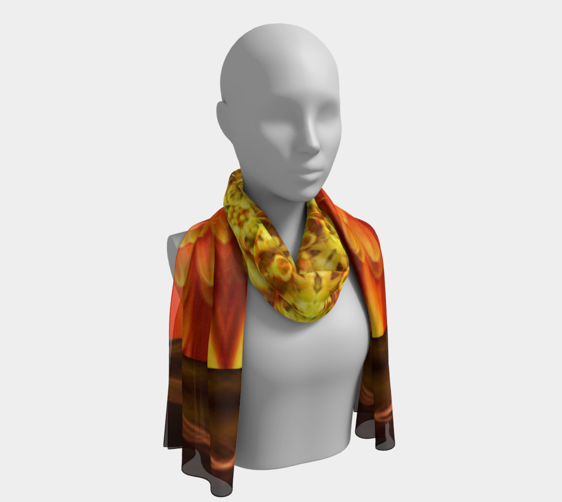 Nature Spirit Long Silk Scarf preview #1