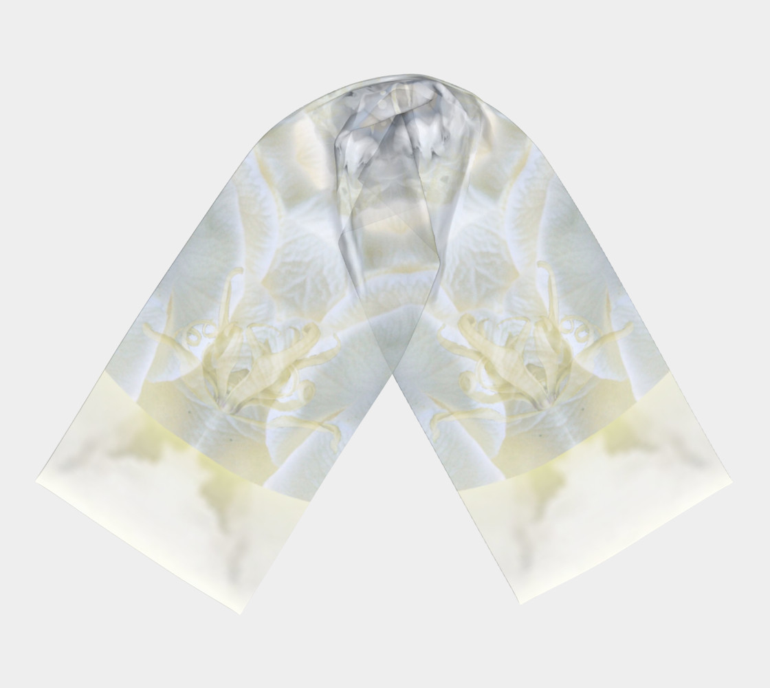 Gardenia Angel Long Silk scarf preview #3