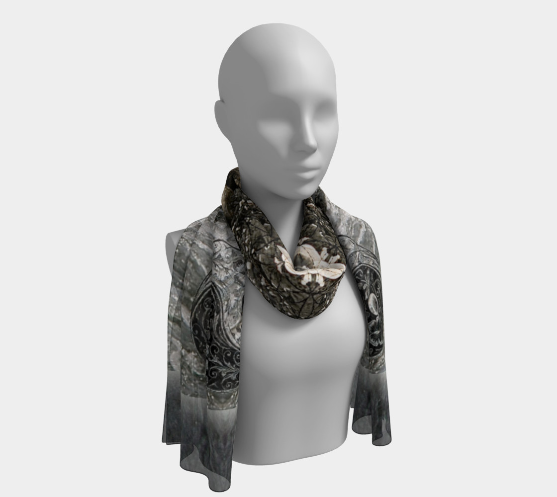 Save the Turtles Long Silk Scarf preview #1