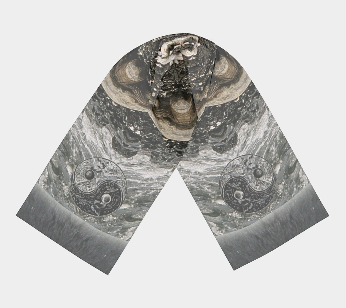 Save the Turtles Long Silk Scarf preview #3