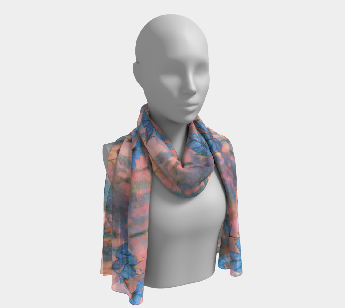 Smaller Print - Cosmos on the Marginal Way Long Scarf preview #1