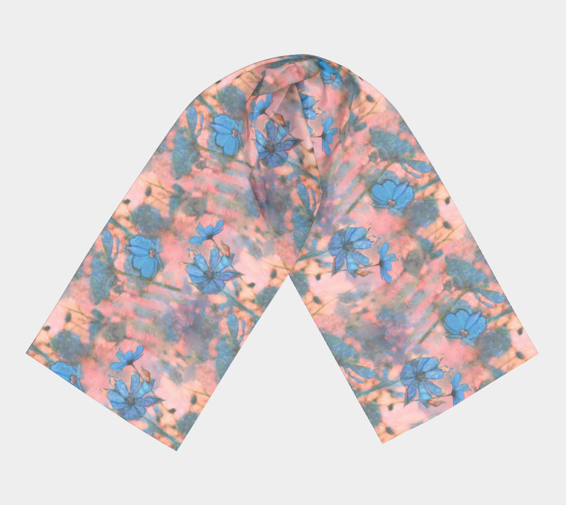 Smaller Print - Cosmos on the Marginal Way Long Scarf preview #3