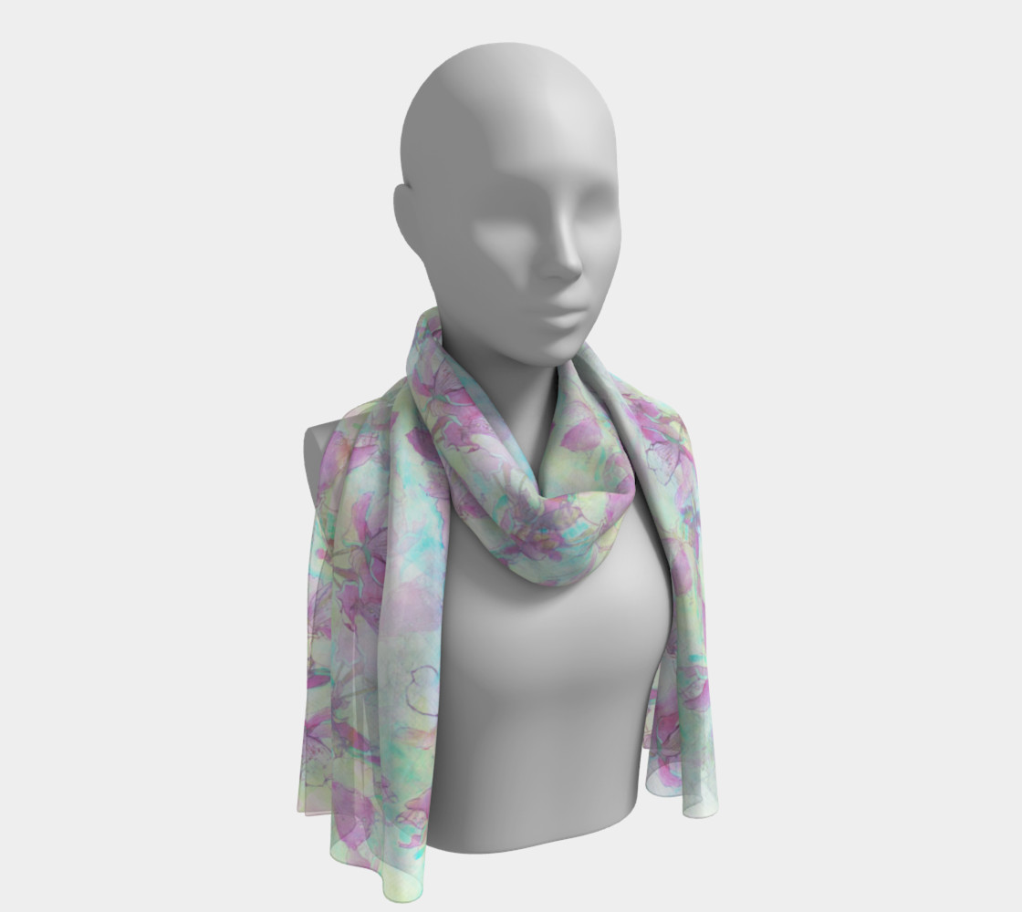 Apple Blossoms in Pale Light Long Scarf preview #1