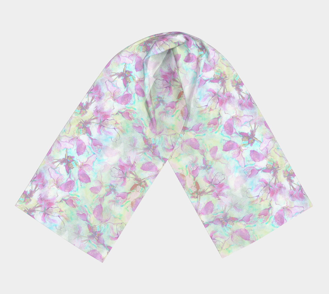 Apple Blossoms in Pale Light Long Scarf preview #3