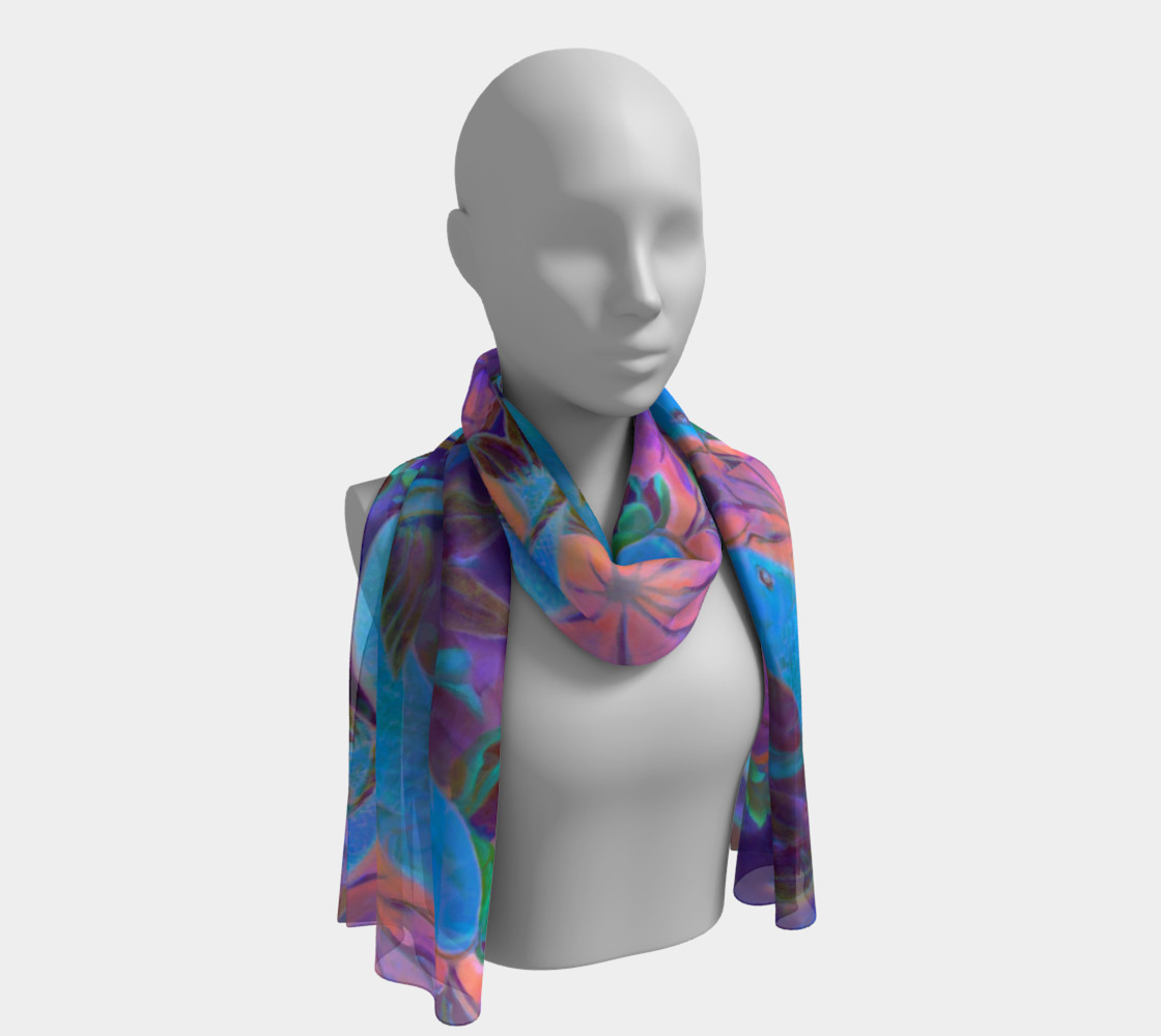 """Midnight Koi Long Scarf 16"""" x 72"""" preview #1"""