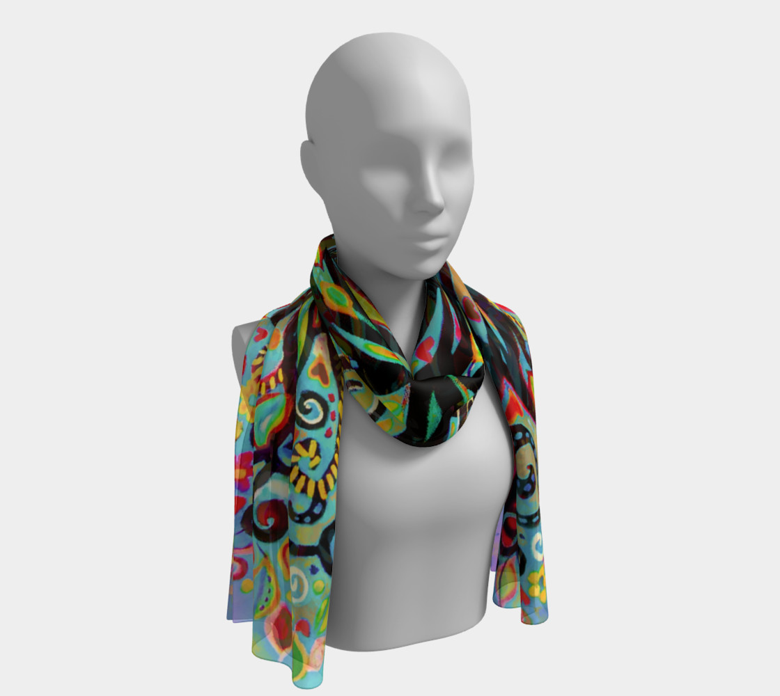 Tree of Life Pastel Long Scarf (16 preview #1
