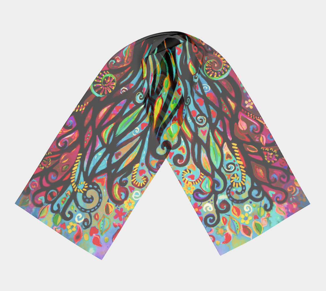 Tree of Life Pastel Long Scarf (16 preview #3