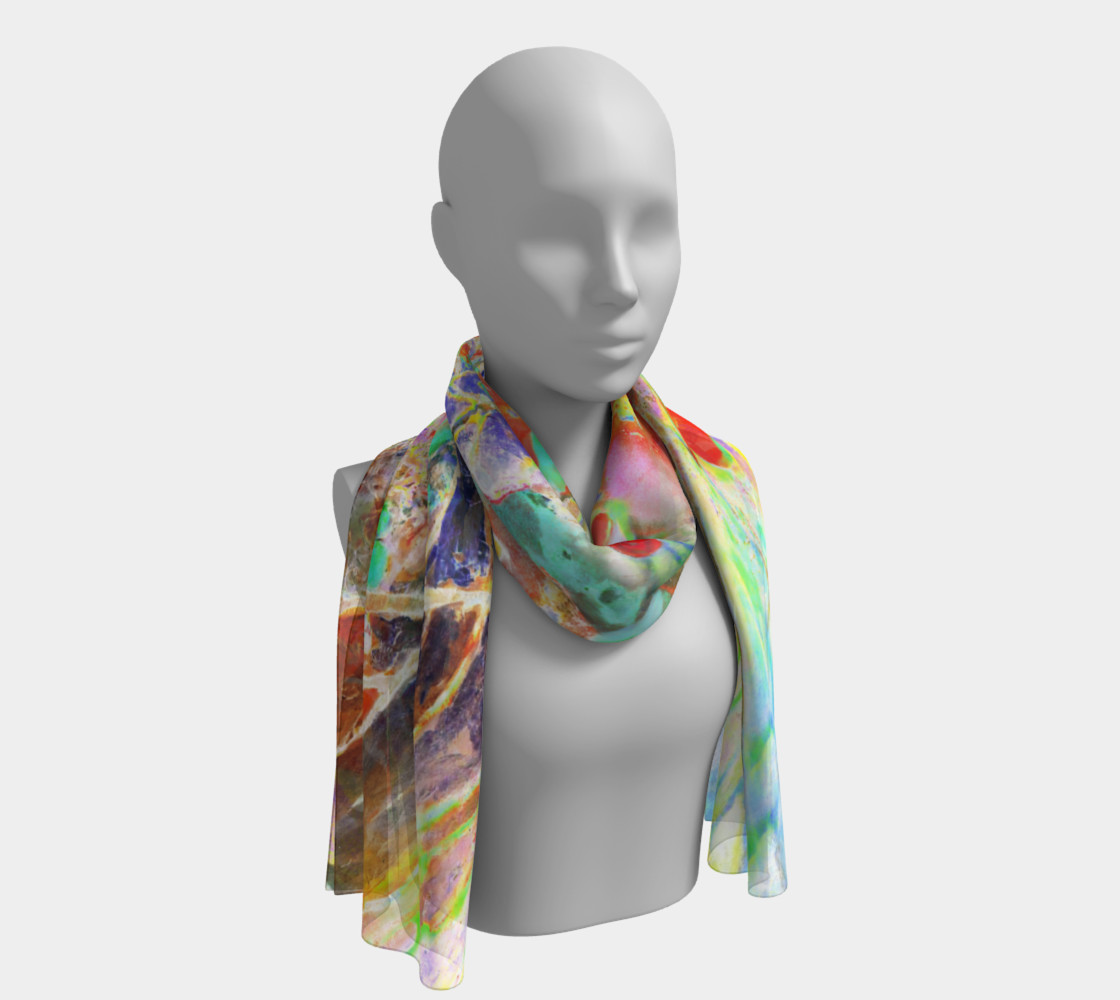 """Pastel Floral Branch Long Scarf 16"""" x 72"""" preview #1"""