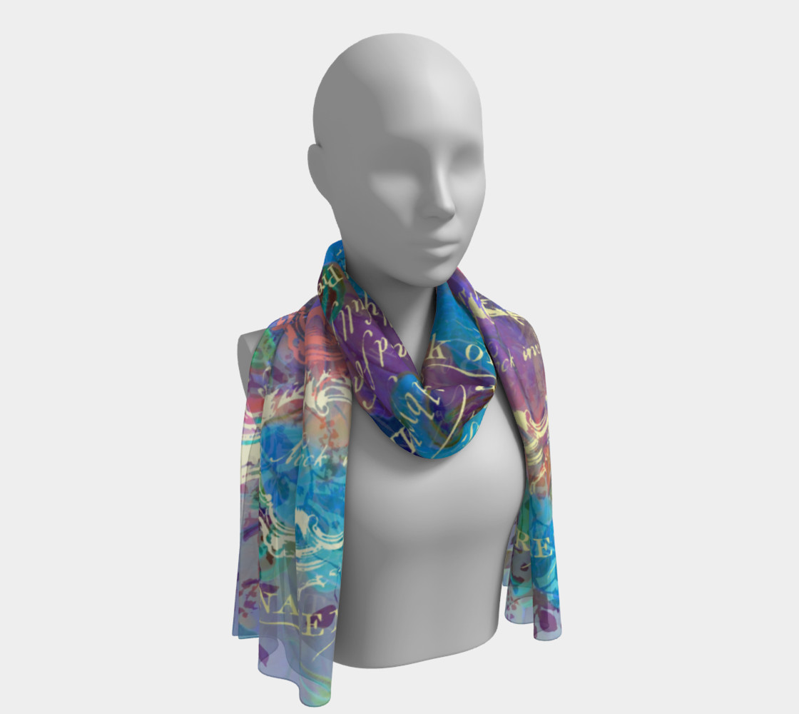 Midnight Koi Fantasy Long Scarf (16 preview #1