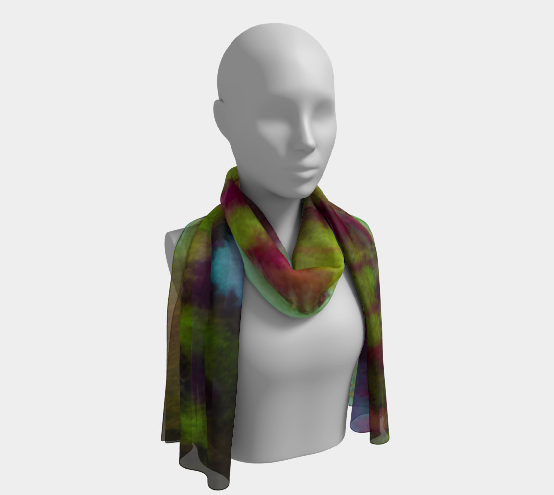 Vibrant Watercolor Long Scarf preview #1