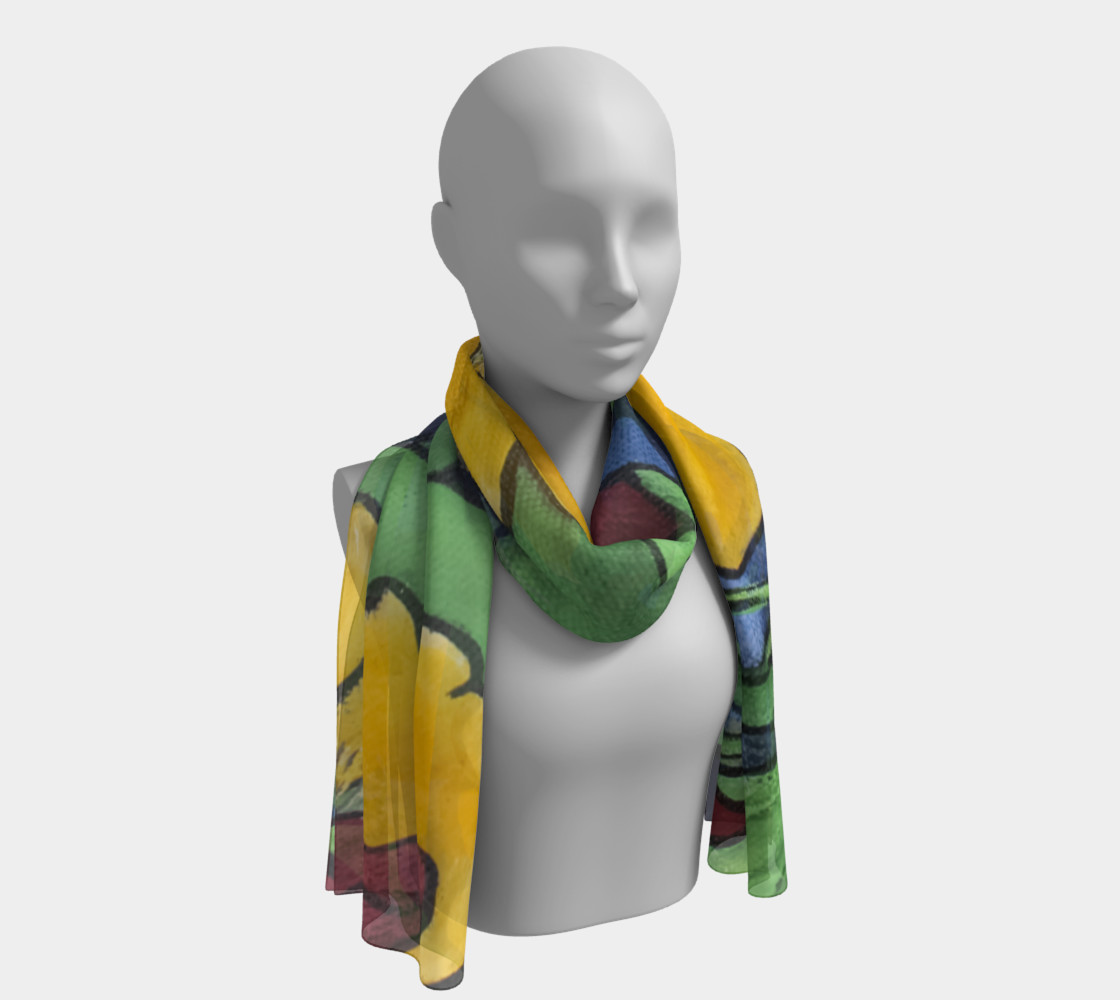 Stained Glass Garden Long Scarf preview #1