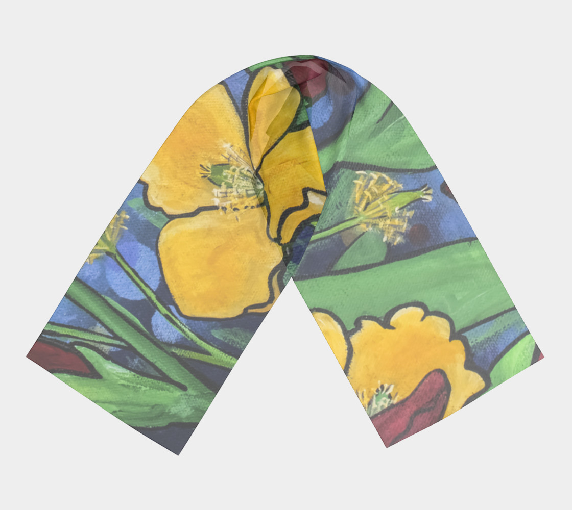 Stained Glass Garden Long Scarf preview #3