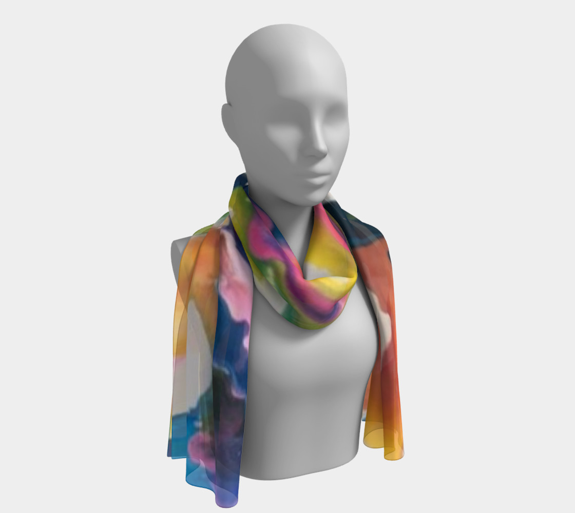 Rainbow Strider long scarf preview #1