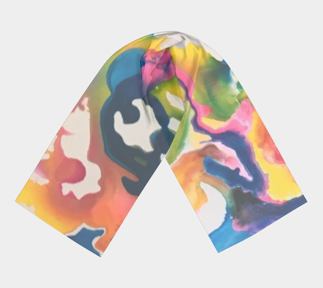 Rainbow Strider long scarf preview #3