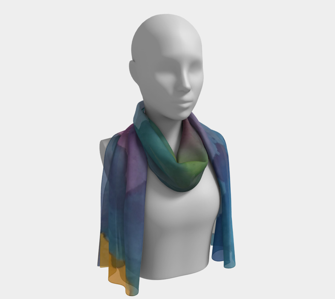 Rainbow Light long scarf preview #1