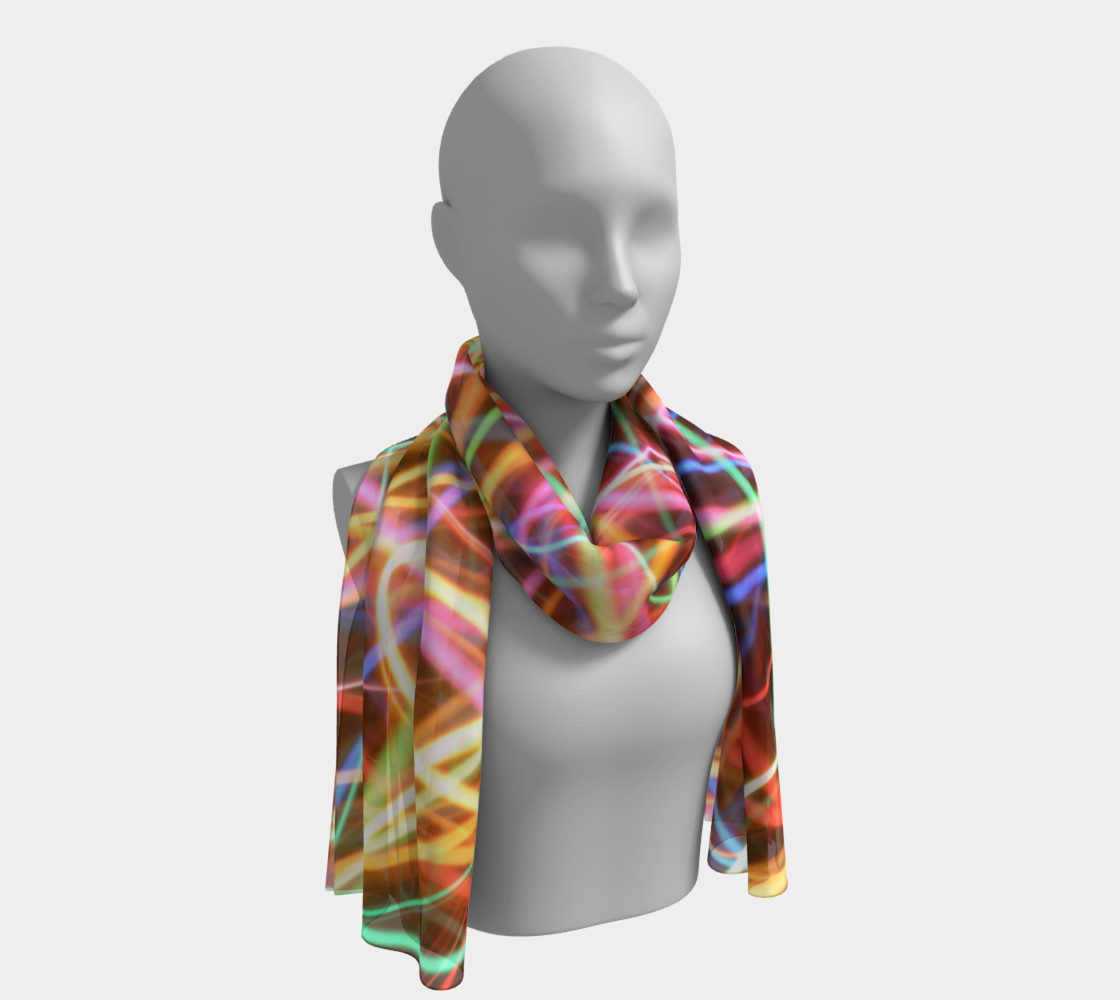 Christmas Light Trails Long Scarf preview #1