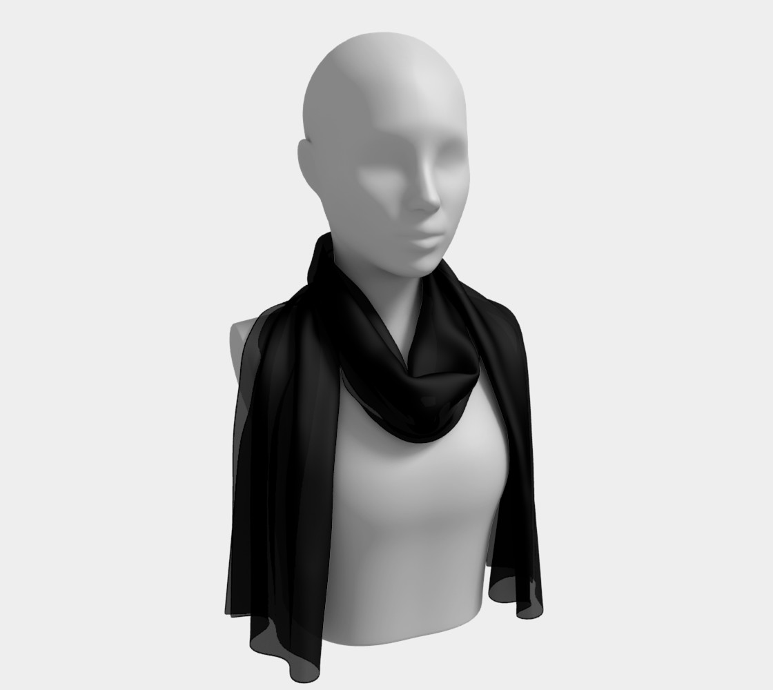 Black as Night Sky Long Scarf preview #1