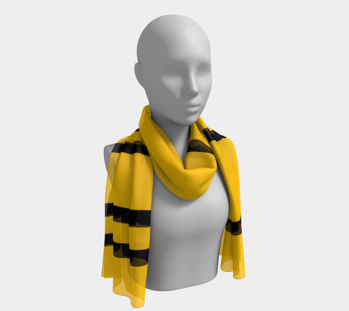 Yinz Black and Yellow Long Scarf II preview #1