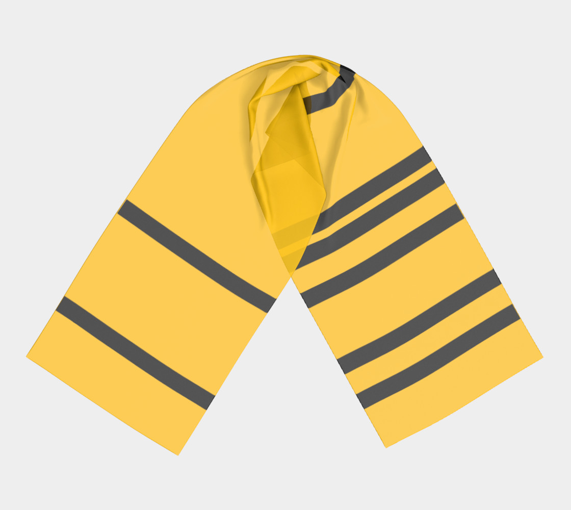 Yinz Black and Yellow Long Scarf II preview #3
