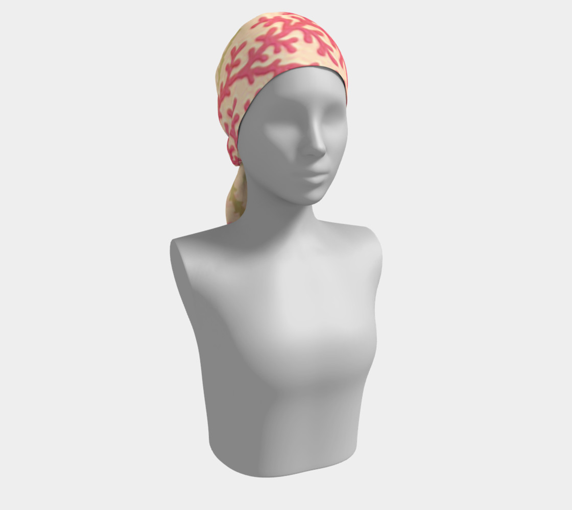 Pink and Citron Green Sea Coral Scarf preview #2