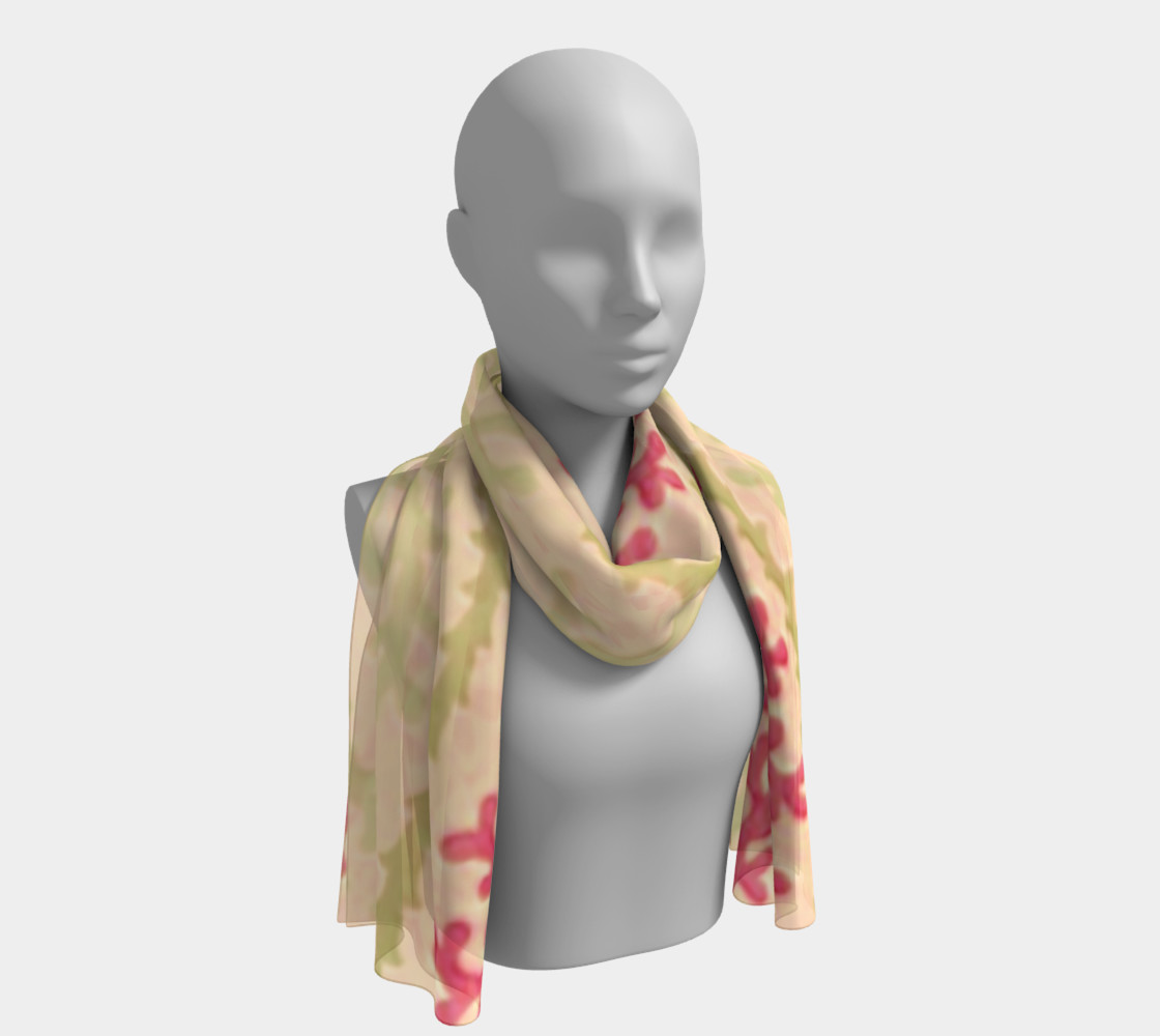 Pink and Citron Green Sea Coral Scarf preview #1