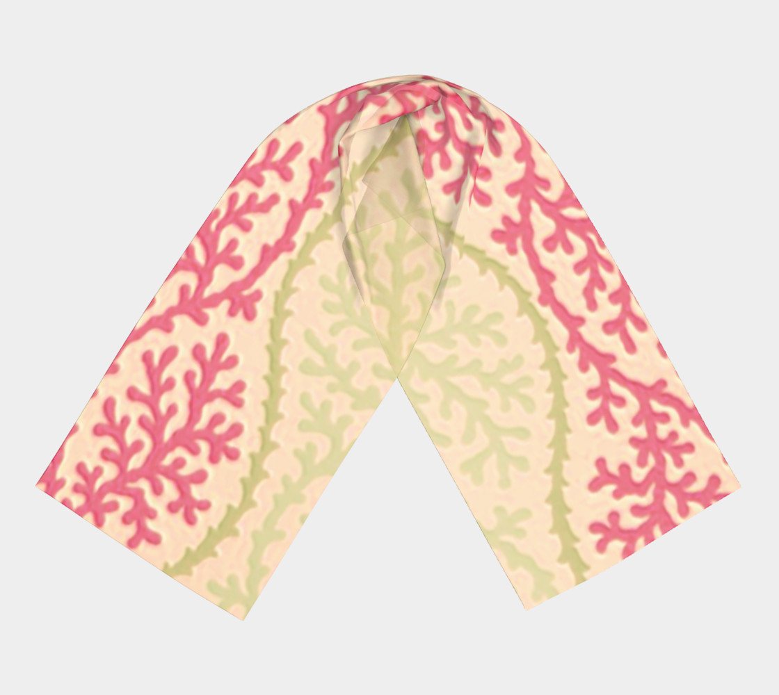 Pink and Citron Green Sea Coral Scarf preview #3