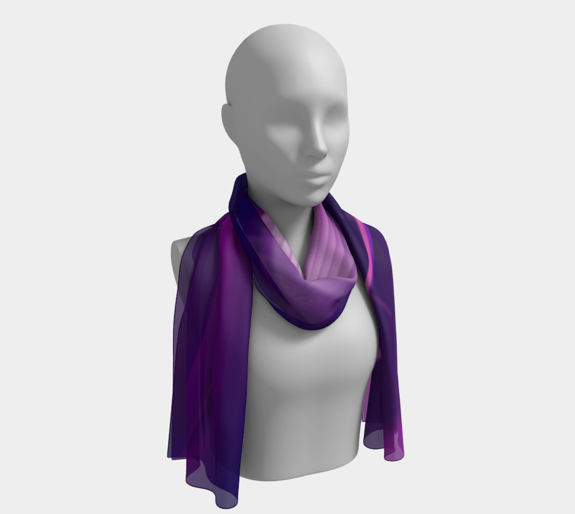 Purple Waves long scarf preview #1