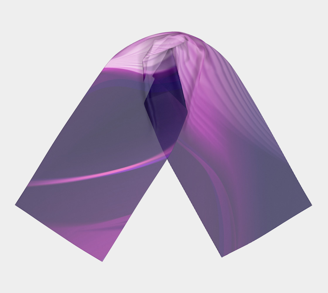 Purple Waves long scarf preview #3