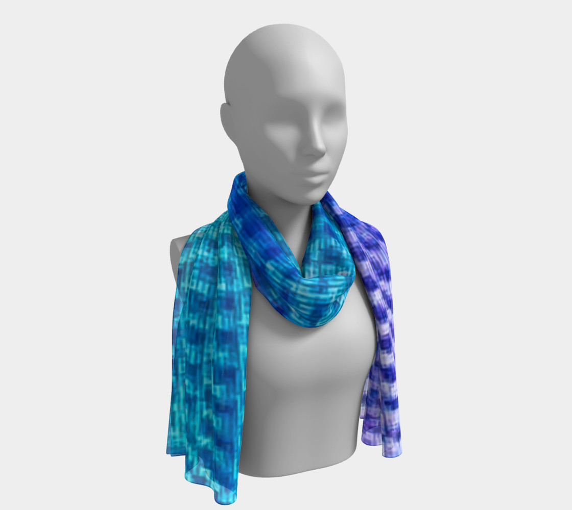 Digital Blur Long Scarf preview #1