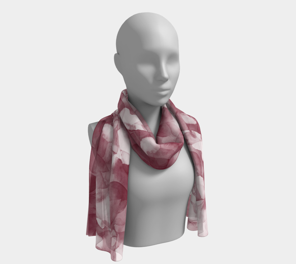 Magenta Leaves Scarf preview #1