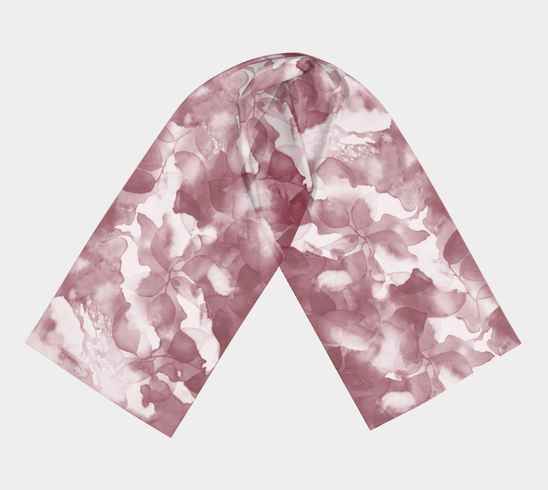 Magenta Leaves Scarf Miniature #4