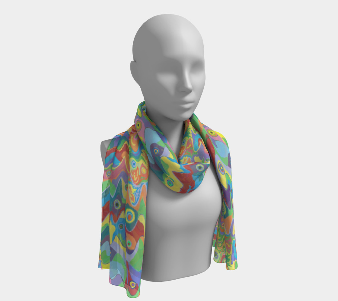 Abstract Hills Pattern 1 Long Scarf preview #1