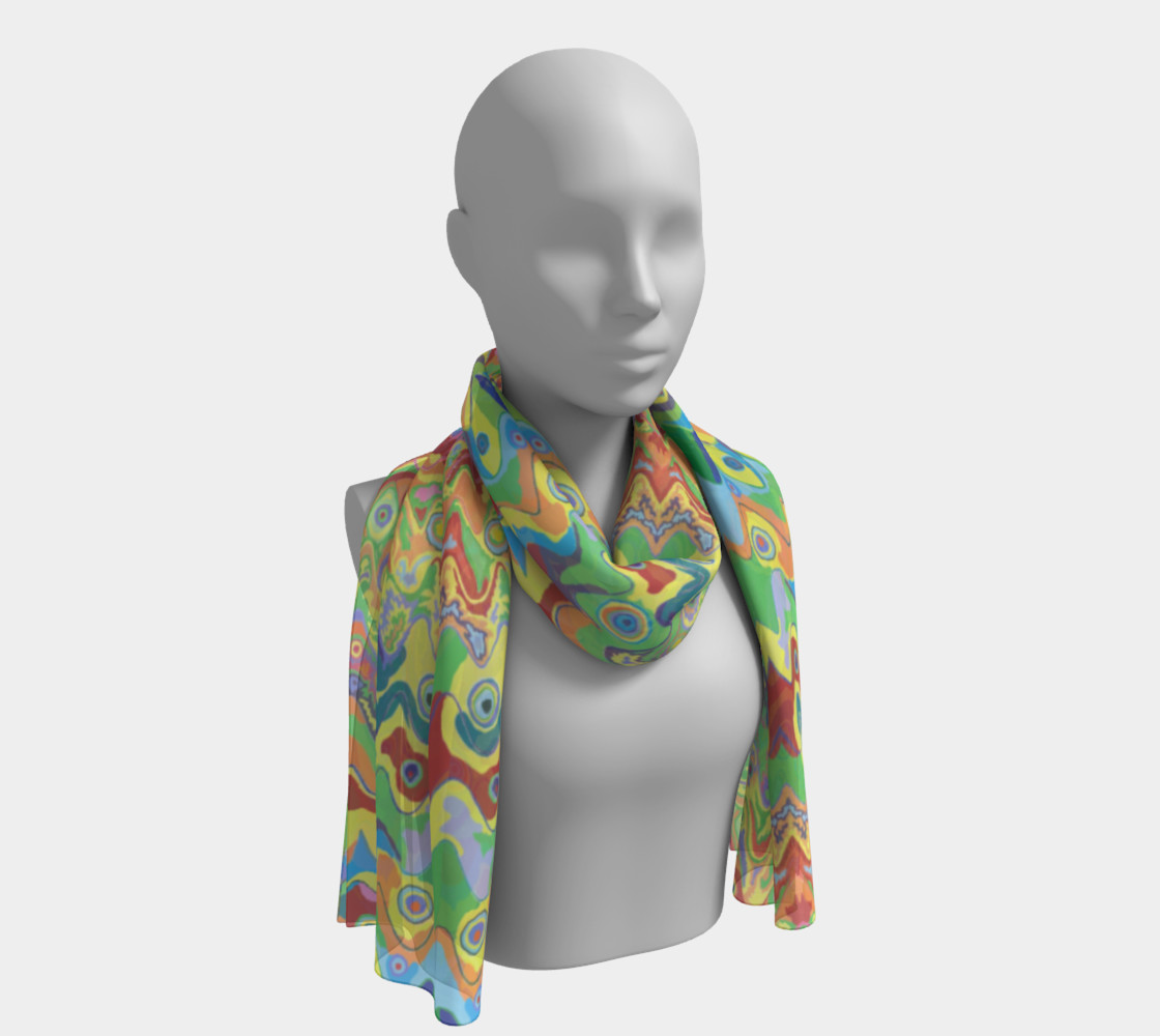 Abstract Hills Pattern 2 Long Scarf preview #1