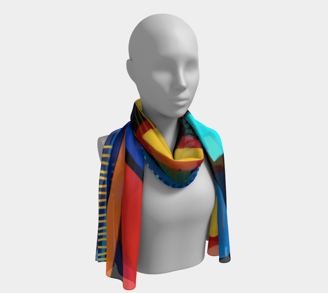 Blue Jazz Long Scarf preview #1