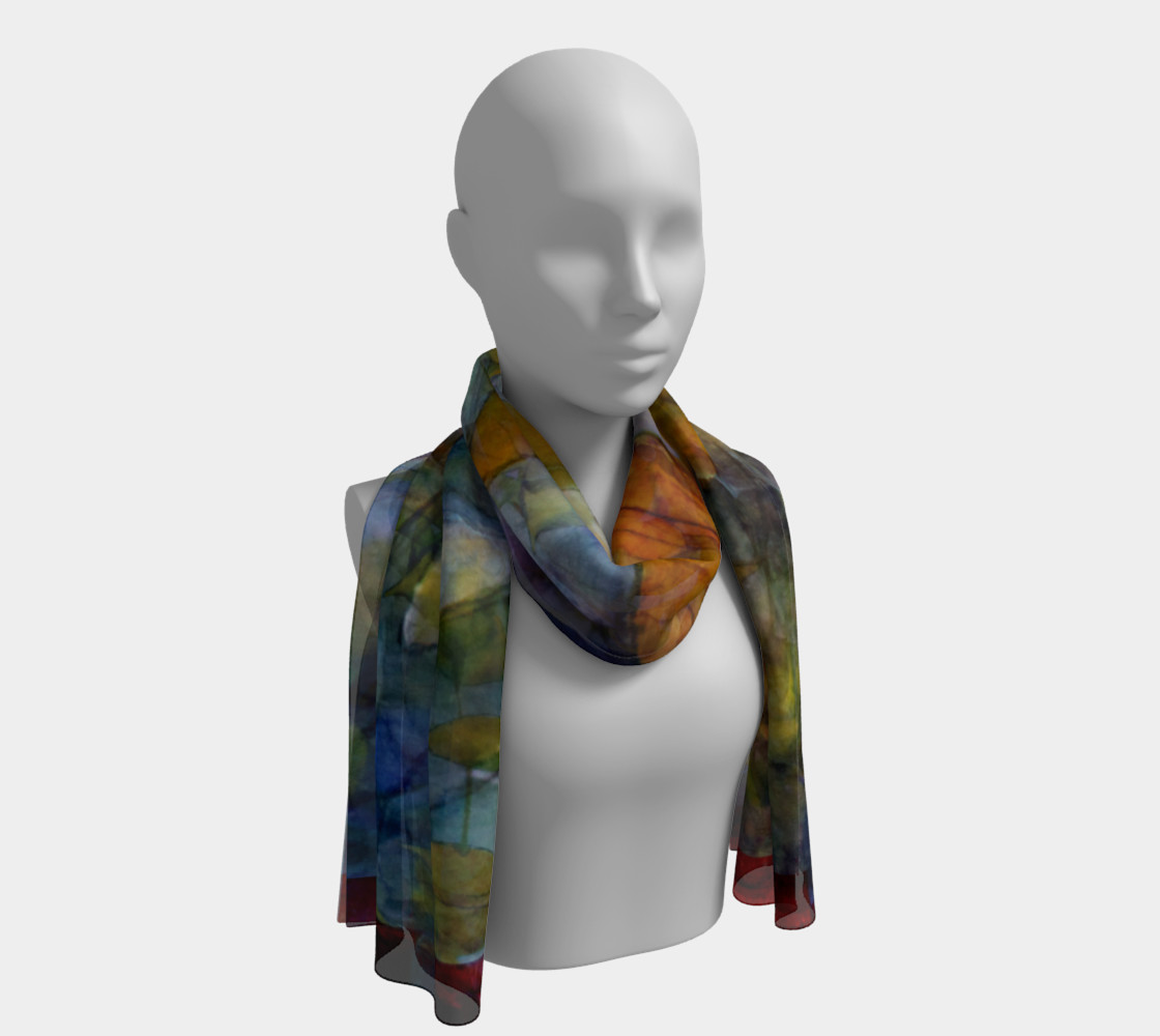 Autumn Leaves Long Scarf preview #1