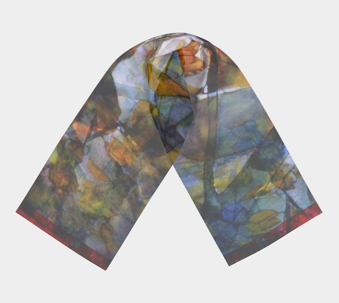 Autumn Leaves Long Scarf preview #3