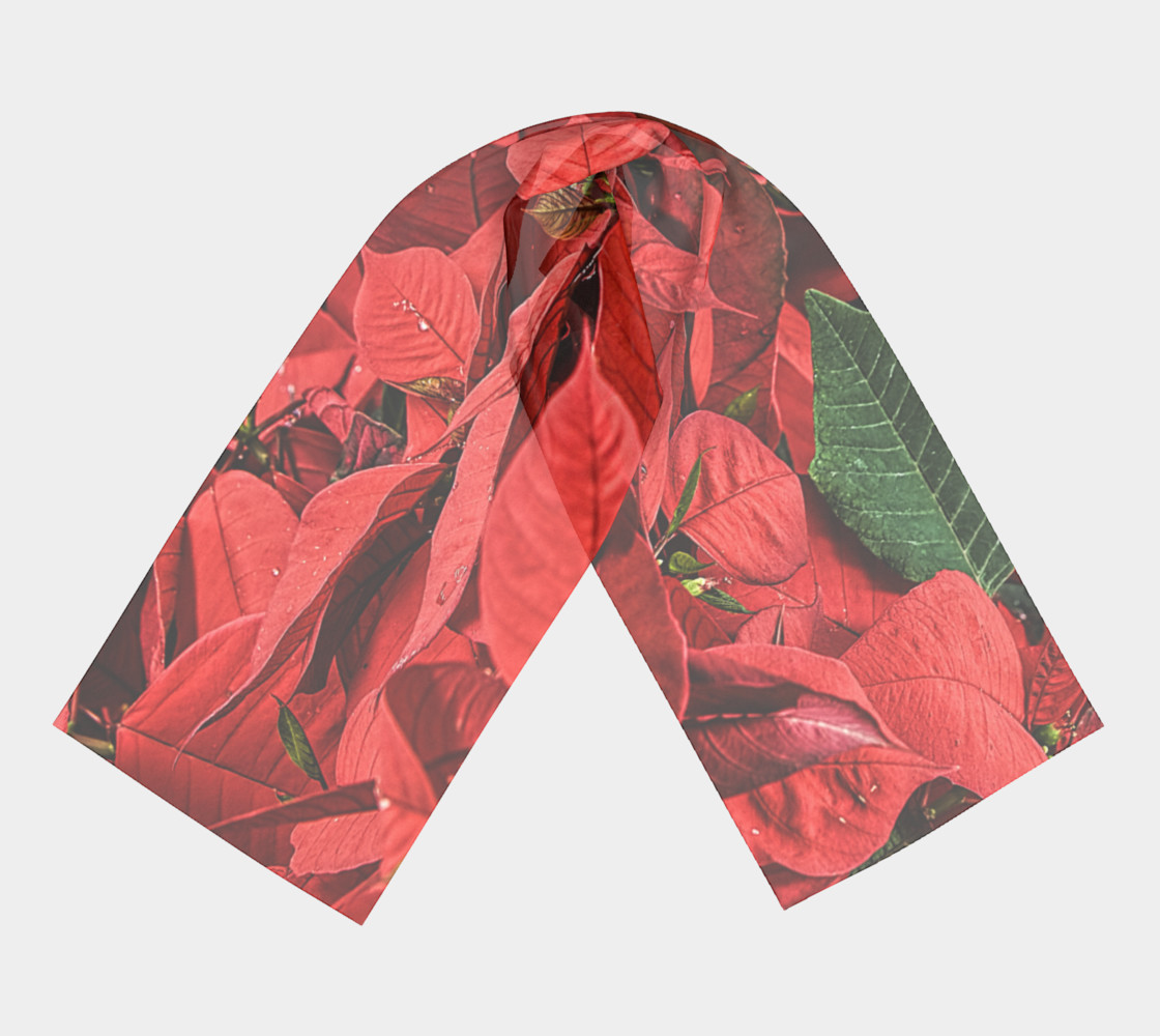 Poinsettia Long Scarf preview #3