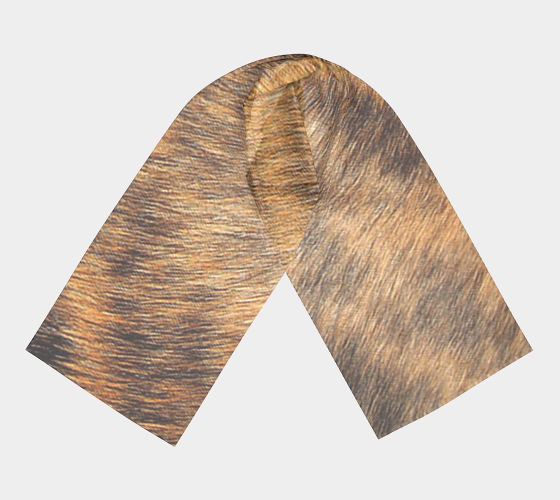 Brindle Fur Long Scarf preview #3