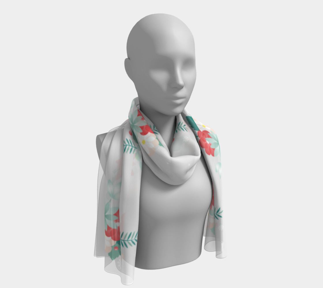 Floral Rectangle Scarf preview #1
