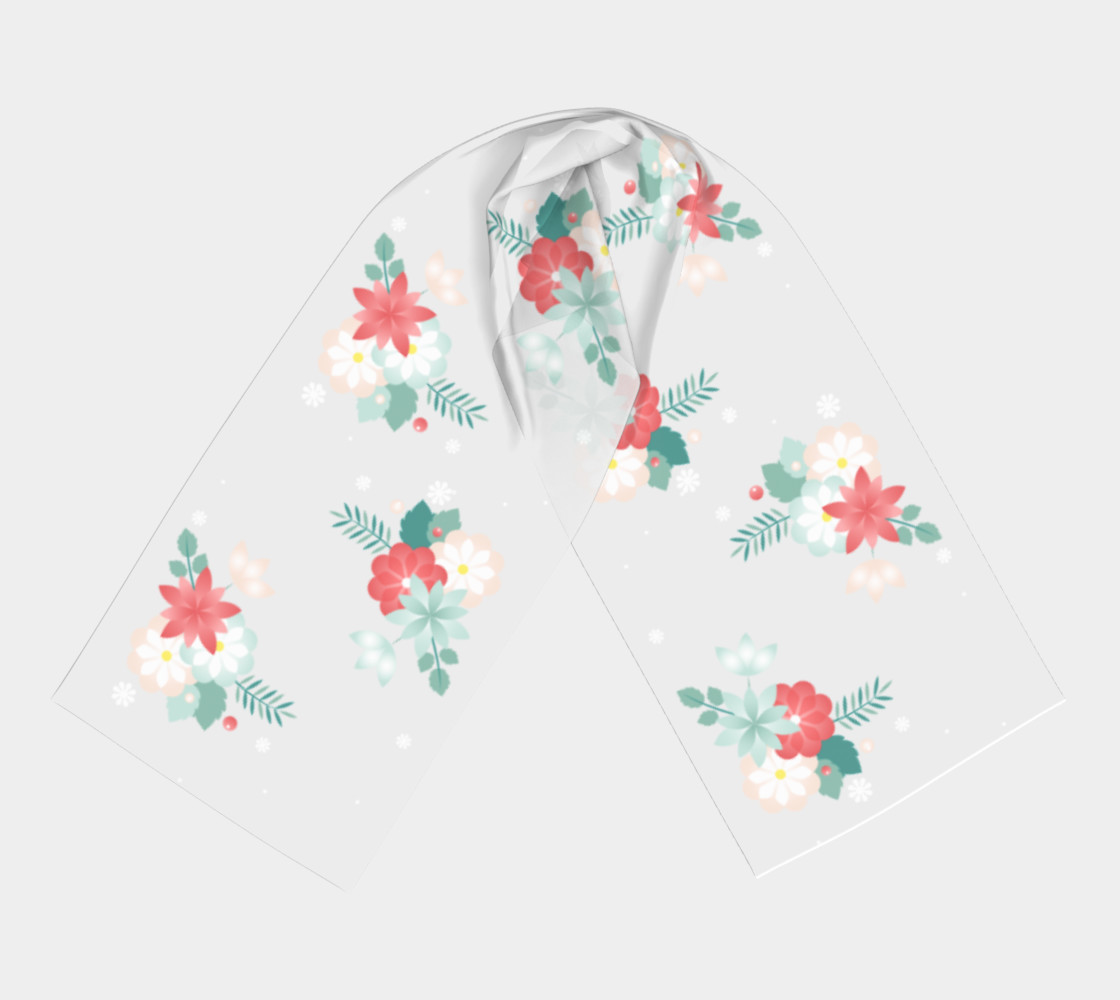 Floral Rectangle Scarf preview #3