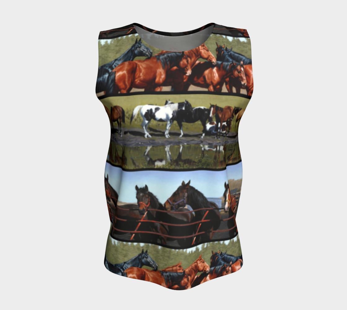 Horses Loose Tank Top preview #5