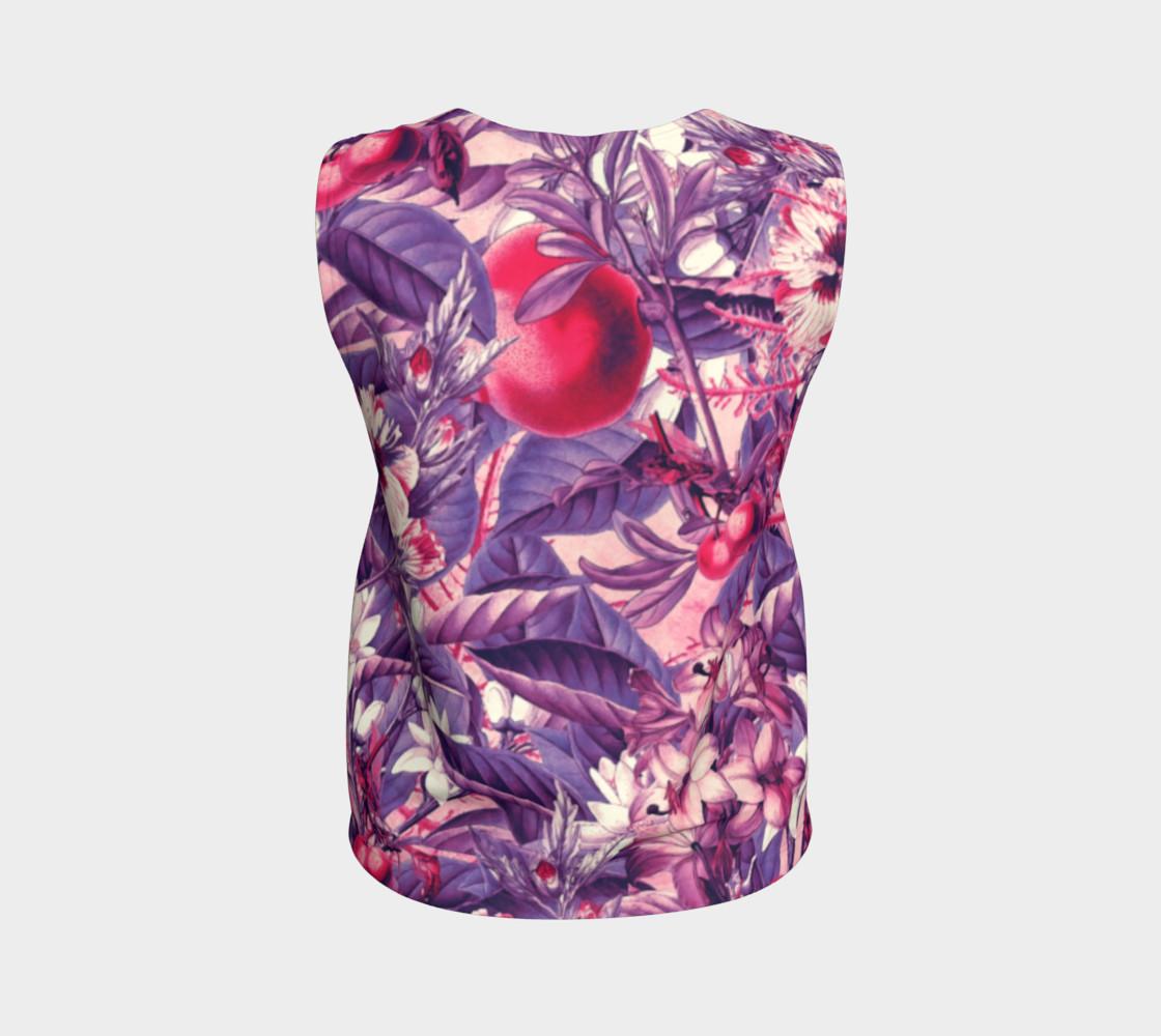 flowers purple loose tank top preview #2