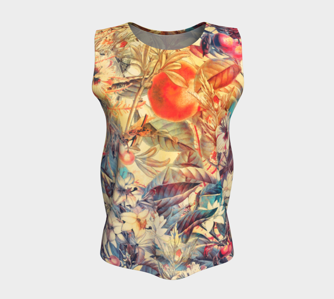flowers and fruits loose tank top preview #5