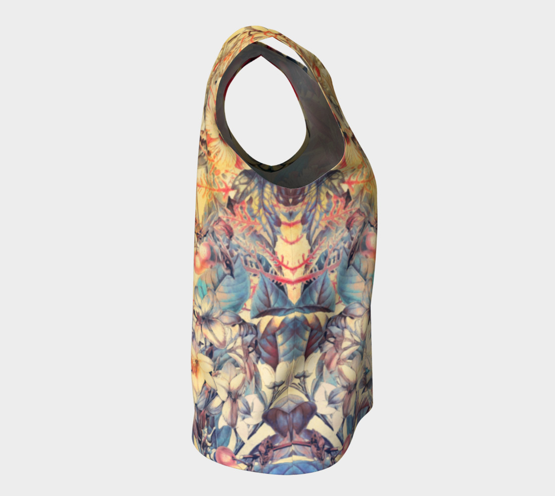 flowers and fruits loose tank top preview #8