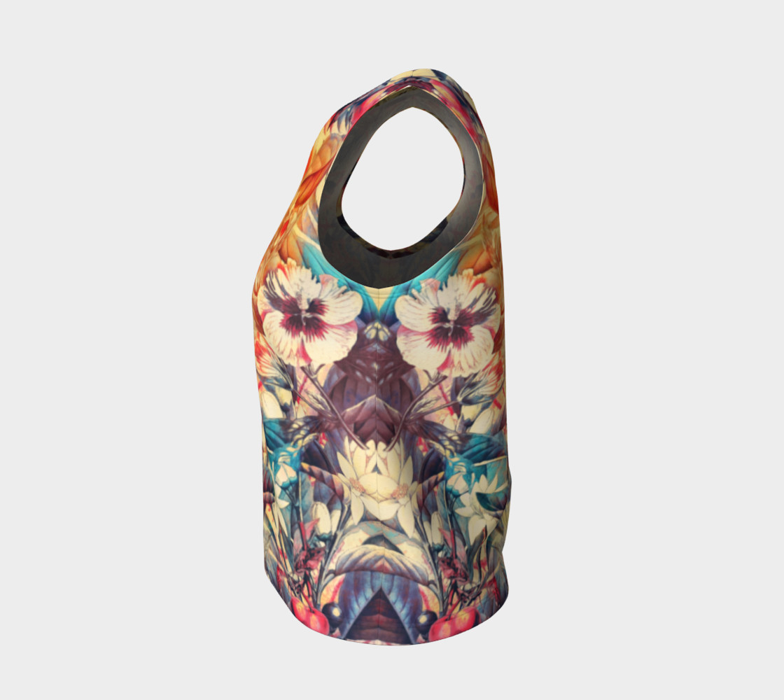 flowers and fruits loose tank top preview #3