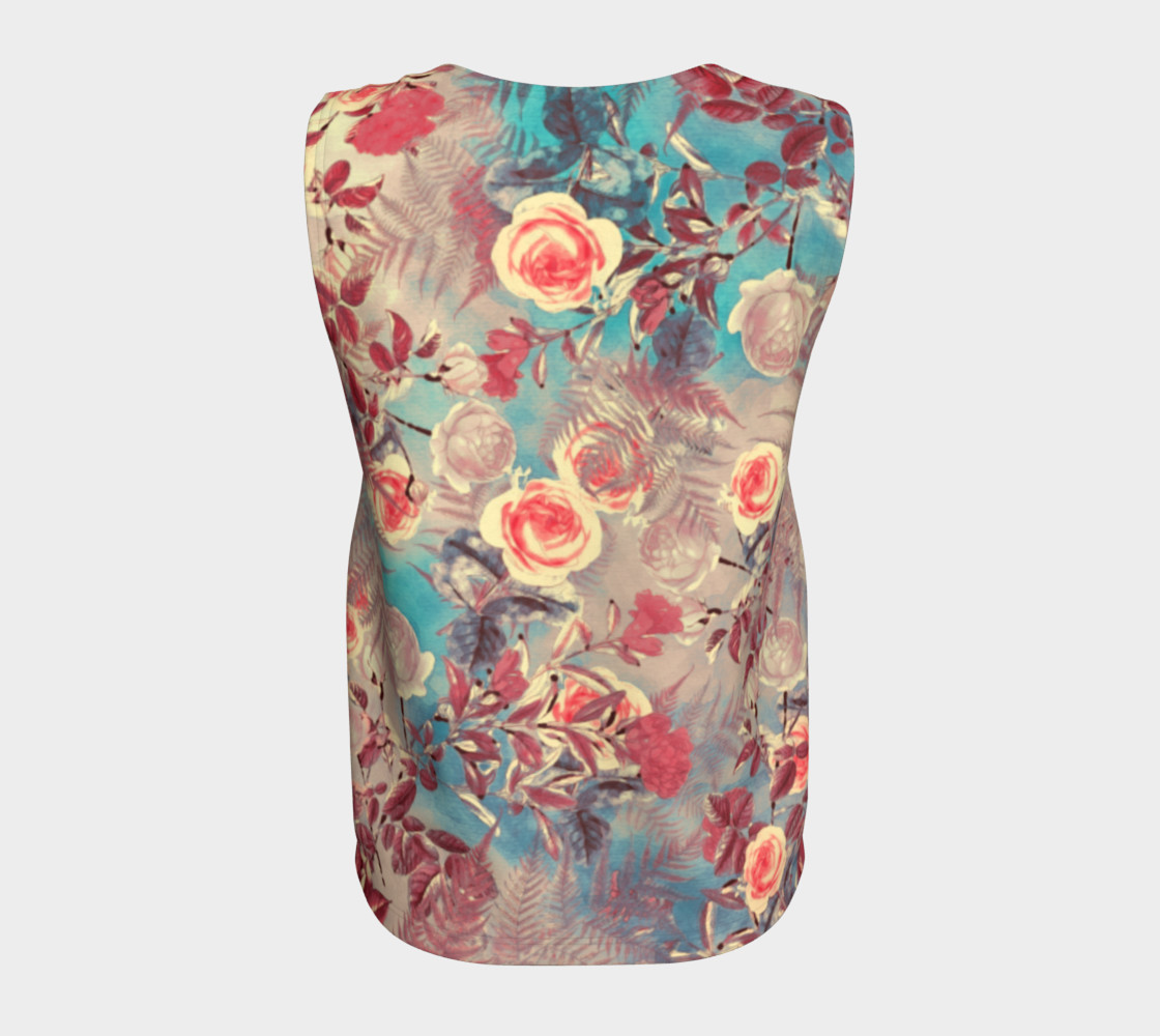 flowers pastel loose tank top preview #6