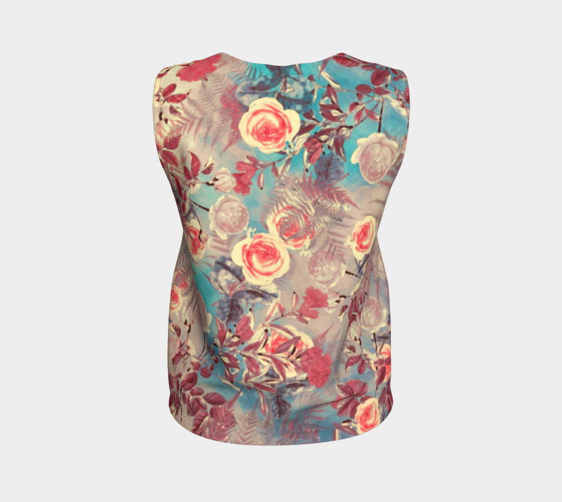 flowers pastel loose tank top preview #2