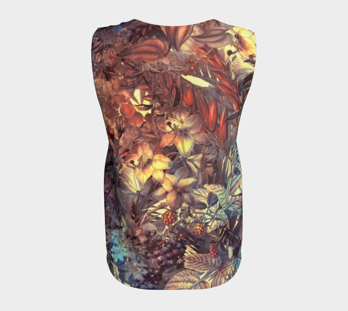 flowers art loose tank top preview #6