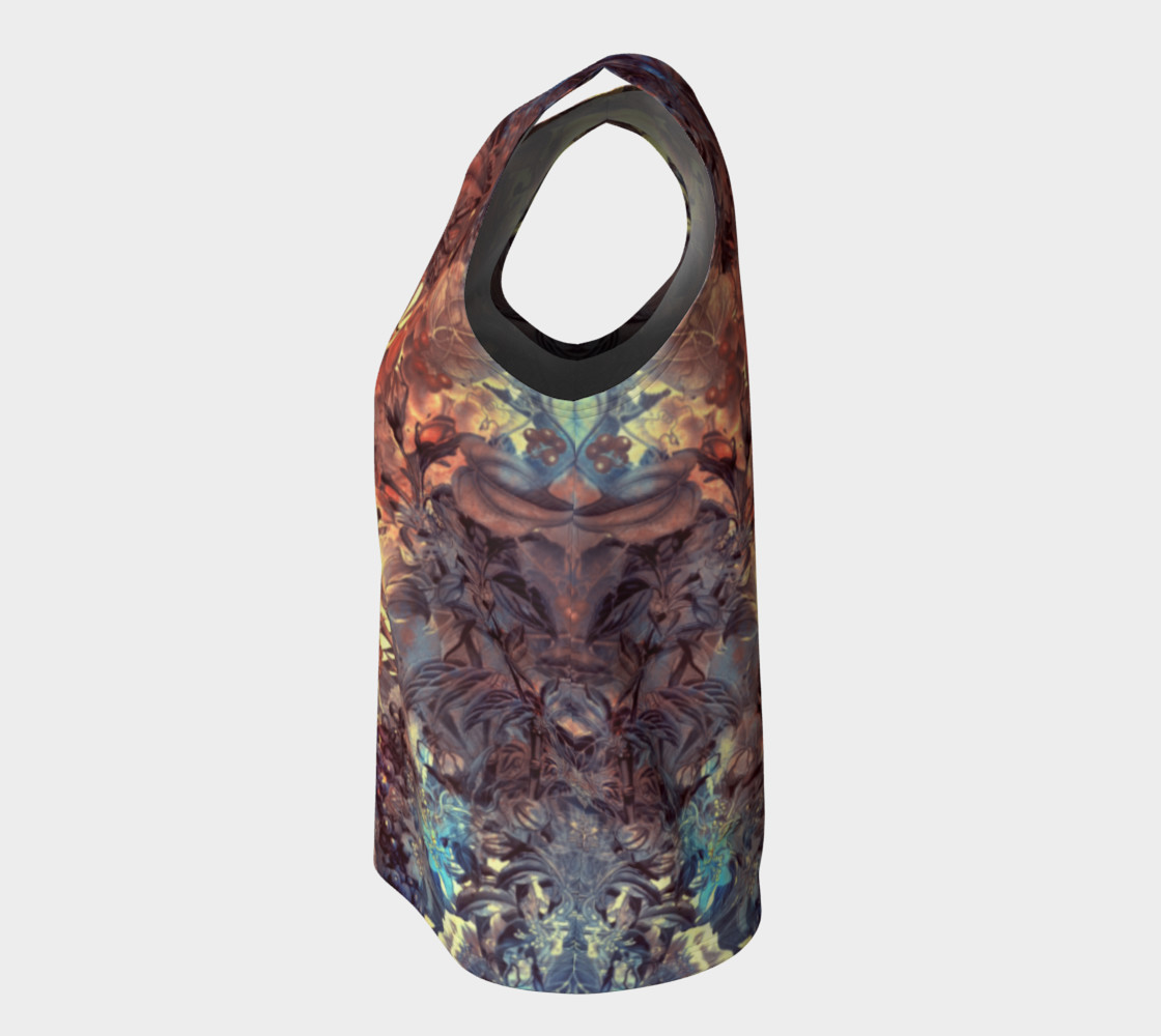 flowers art loose tank top preview #7